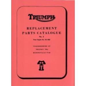 99-0821 - Spare Parts List - 650 unit -1964 | Onderdelenboeken