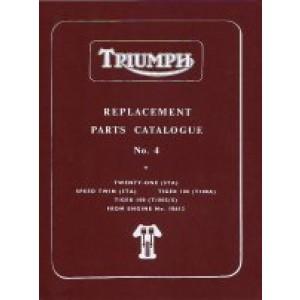 99-0827 - Spare Parts List - 350/500 unit -1961 | Onderdelenboeken