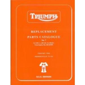 99-0882 - Spare Parts List 650- 1969   Onderdelenboeken