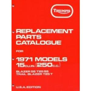 99-0929 - Spare Parts List 250 - 1971 | Onderdelenboeken