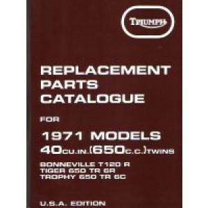 99-0932 - Spare Parts List - 650 unit -1971   Onderdelenboeken