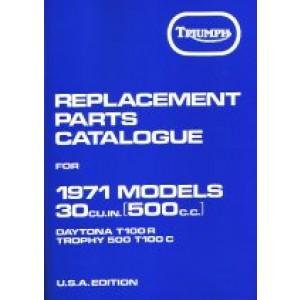 99-0934 - Spare Parts List - 500 unit -1971 | Onderdelenboeken