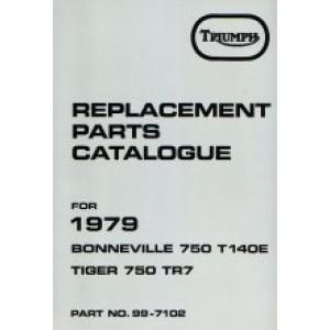 99-7102 - Spare Parts List 750 - 1979 | Onderdelenboeken