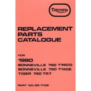 99-7139 - Spare Parts List 750 - 1980 | Onderdelenboeken