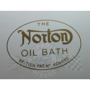 "Decal ""Norton oil bath"""