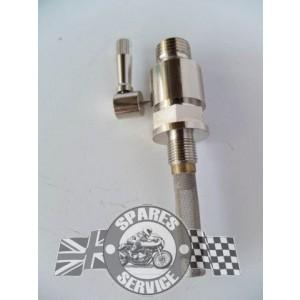 PT014 - Benzinekraan 1/4 gas - vernickeld | Benzinekranen en toebehoren
