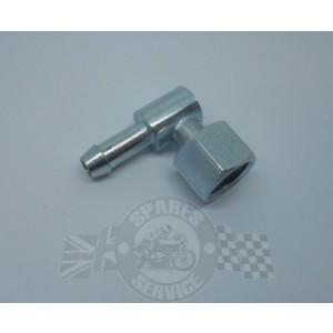 PTF015 - Haakse aansluiting 1/4 gas losse moer. | Benzinekranen en toebehoren