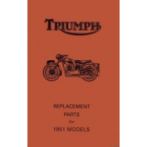 JRP033 - Spare Parts List 350/500/650 pre unit -1951 | Onderdelenboeken