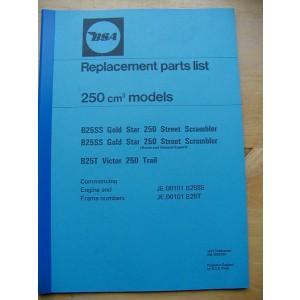 PBBSA006 - Spare Parts List - B25T Victor - B25SS | Onderdelenboeken