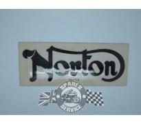 """Sticker op benzinetank """"Norton"""" zwart"""