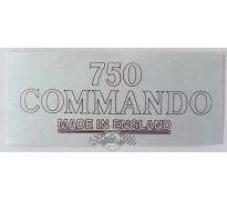 "DECAL - FASTBACK TAIL FAIRING - ""750 COMMANDO"" - GB"