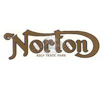 """Sticker """"Norton"""" klein model - goud-zwart"""