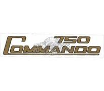 """Sticker op zijpaneel """" 750 Commando """""""