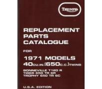 Onderdelenboek - 650 unit -1971