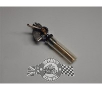 Benzine kraan chroom met ind. plaat 1/4 gas ON/OFF