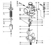 Mikuni VM - Onderdelen